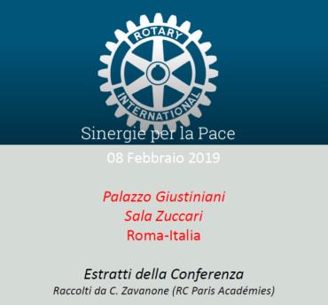 Sinergie per la Pace – Estratti della conferenza dell'8 febbraio 2019